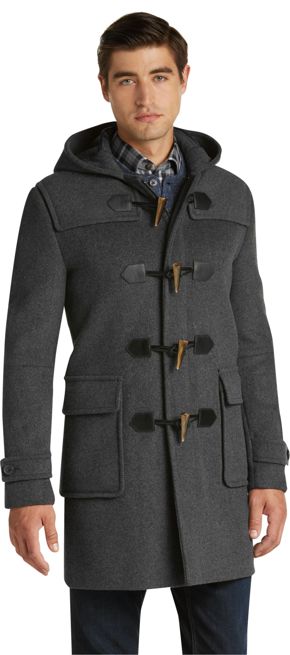 1905 Collection Tailored Fit 3/4 Length Duffle Coat CLEARANCE ...