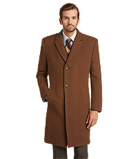 Men's Vintage Style Coats and Jackets Executive Collection Tailored Fit Topcoat $129.00 AT vintagedancer.com