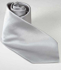 Silver Formal Tie Long Length