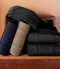 Mid-Calf Herringbone Socks