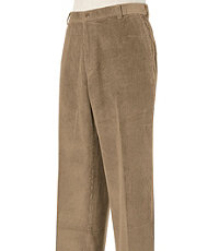 Colorfast Casual Corduroy Plain Front Pants