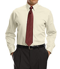 Traveler Tailored Fit Pinpoint Solid Point Collar Dress Shirt