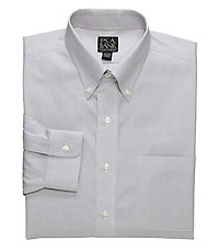 Traveler Tailored Fit Pinpoint Fine Line Buttondown Collar Dress Shirt