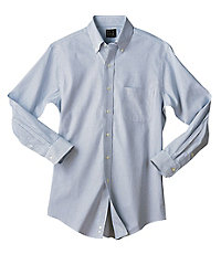 Traveler Tailored Fit Pinpoint Tattersall Buttondown Collar Dress Shirt