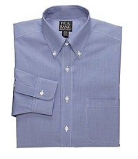 Traveler Tailored Fit Pinpoint Houndstooth Buttondown Collar Dress Shirt