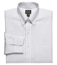Traveler Pinpoint Check Buttondown Collar Dress Shirt Big or Tall
