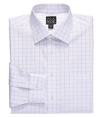 Traveler Plaid Spread Collar Dress Shirt