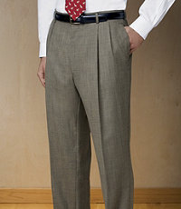 Executive Wool Pleated Front Trouser