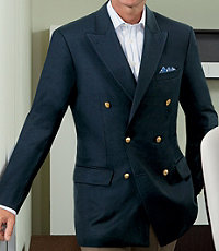 Signature Double-Breasted Wool Blazer $595.00 AT vintagedancer.com