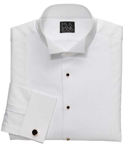 Signature Dobby Pique Wing Collar Formal Dress Shirt