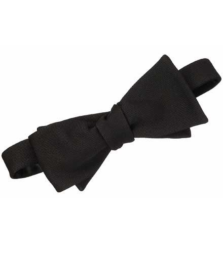 Black Grosgrain Self-tie Bow Tie