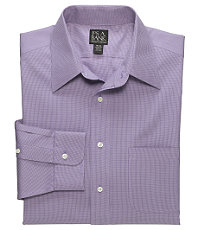 Traveler Microcheck Point Collar Dress Shirt