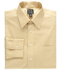 Traveler Pinpoint Microcheck Point Collar Dress Shirt Big or Tall