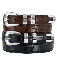 Four-Piece Moc Croc Golf Belt