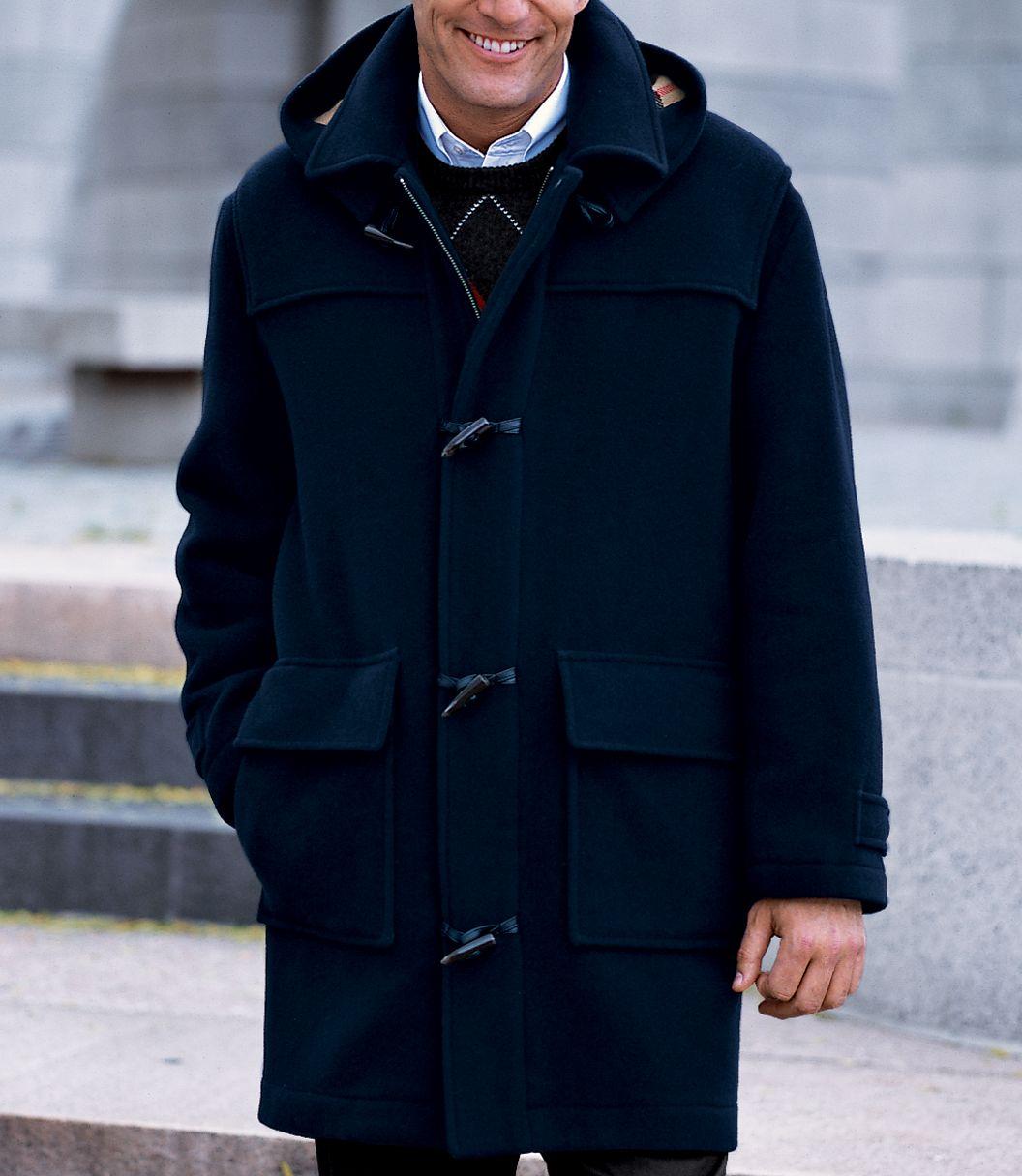 Wool Duffle Coat Mens 2Uy02G
