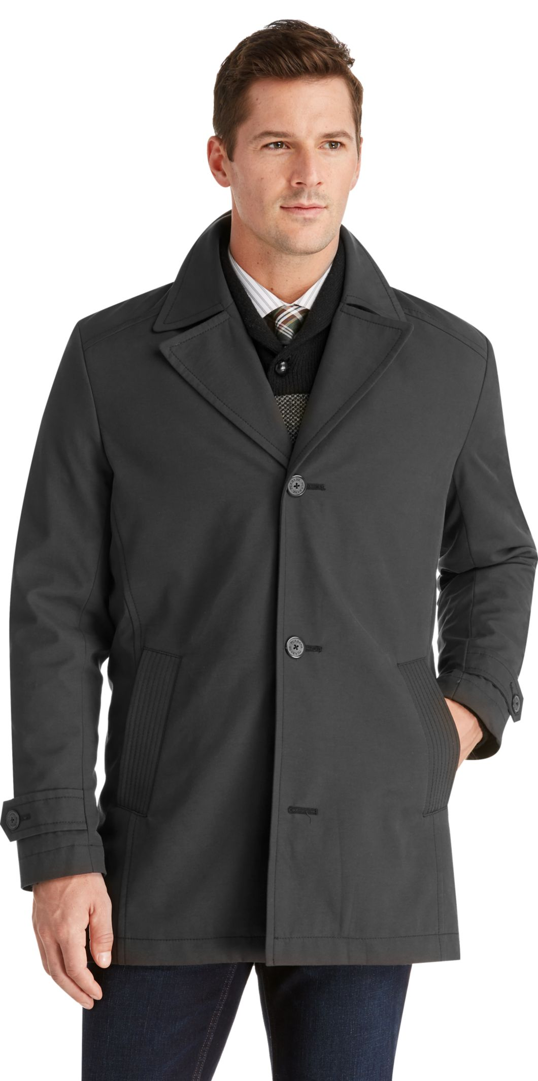 Car Coat Over Suit