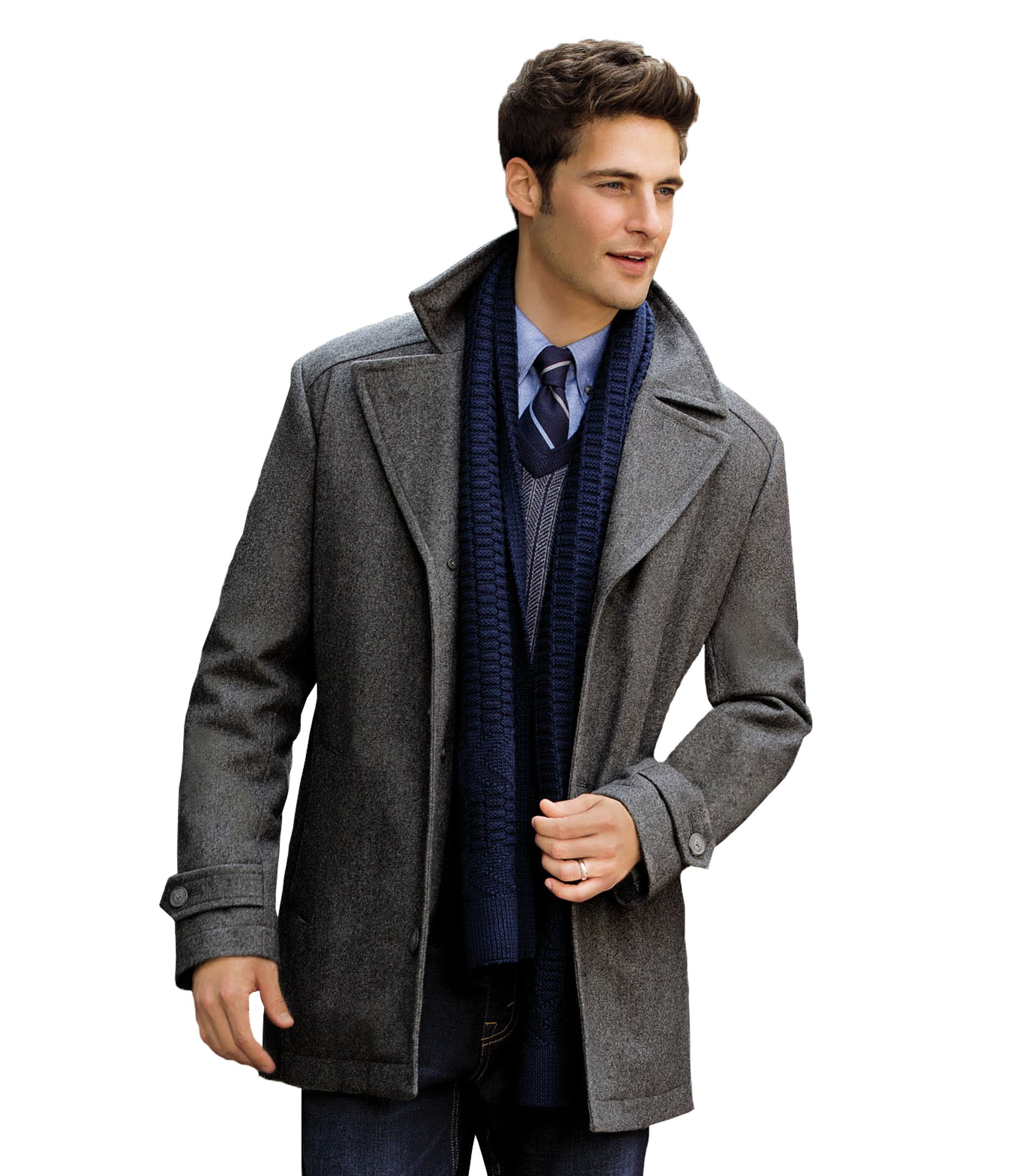 Executive Collection Traditional Fit 3/4 Length Car Coat CLEARANCE ...