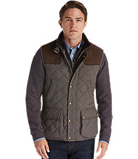 JoS. A. Bank 1905 Collection Traditional Fit Herringbone Quilted Vest