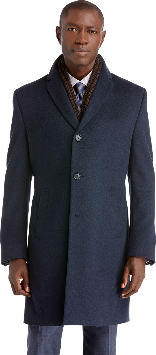 Executive Collection Tailored Fit 3/4 Length Topcoat