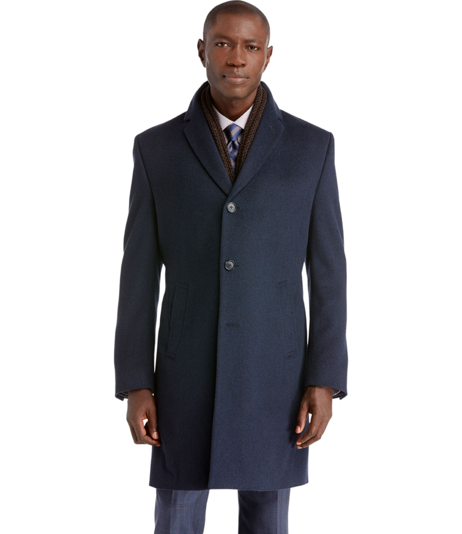 executive collection tailored fit overcoat jos a bank