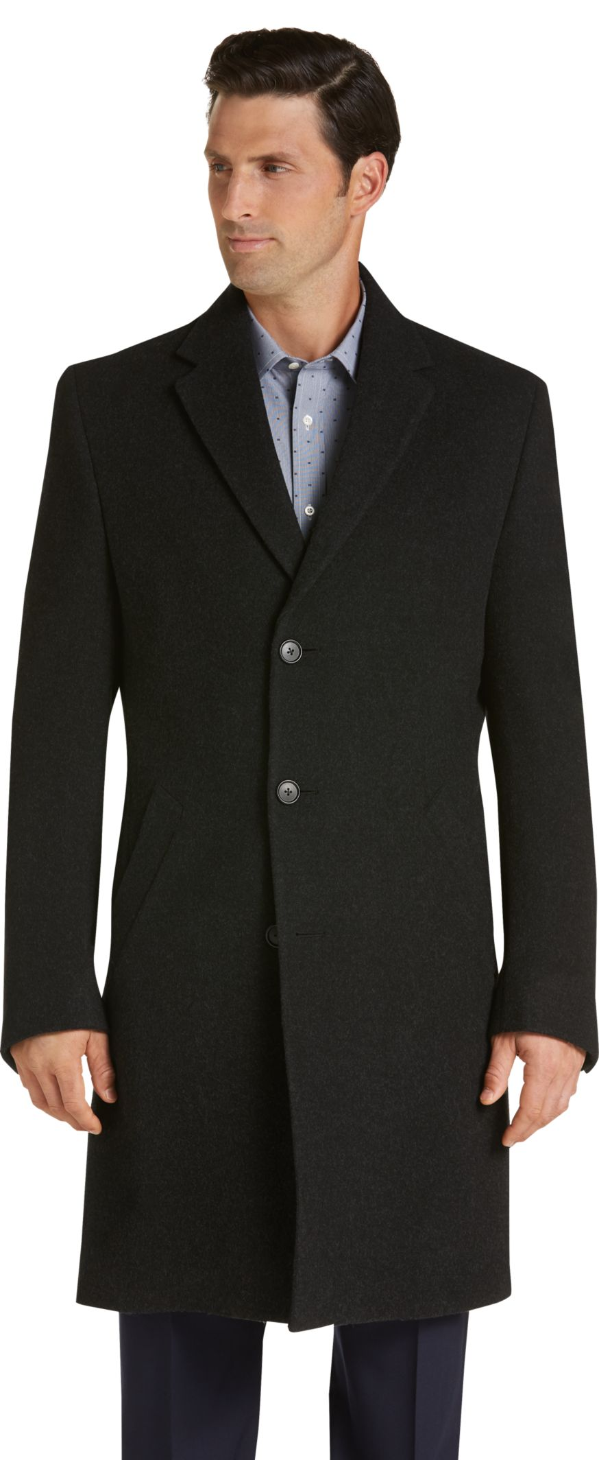 Executive Collection Traditional Fit Merino Wool Car Coat - Wool ...