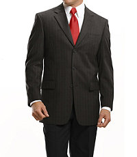 Business Express 3-Button Jacket- Charcoal Stripe or Olive Plaid