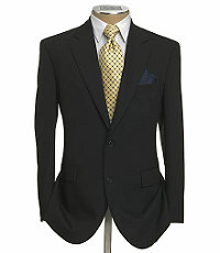 Business Express 2-Button Jacket- Charcoal Grey