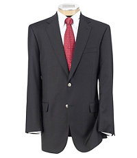 Signature Gold 2-Button Wool Navy Blazer