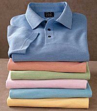 Signature Silk/Cotton Tonal Polo
