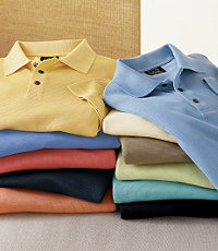 Signature Silk/Cotton Polo