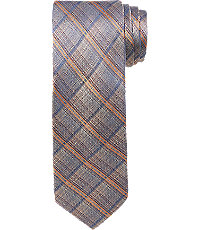 New 1930s Mens Fashion Ties Joseph Abboud Ombre Plaid Tie $69.50 AT vintagedancer.com