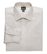 Traveler Pinpoint Fine-line Spread Collar Dress Shirt