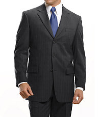 Signature 3-Button Wool Suit-Grey Stripe,Grey Herringbone,or Navy