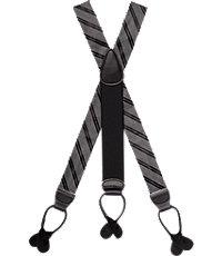 Men's Vintage Style Suspenders Stripe Button-In Suspenders $89.50 AT vintagedancer.com