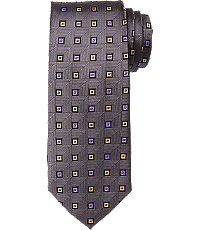 Signature Small Square Pattern Tie $79.50 AT vintagedancer.com
