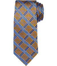New 1940s Men's Ties, Neckties, Pocket Squares Signature Grid Tie $79.50 AT vintagedancer.com