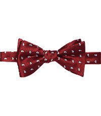 Executive Collection Pine Pattern Self-Tie Bow Tie $49.50 AT vintagedancer.com