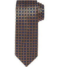 New 1930s Mens Fashion Ties Executive Collection Modern Check Extra Long Tie $54.50 AT vintagedancer.com