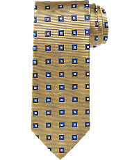1920sMensTies038BowTies Executive Collection Square Pattern Extra Long Tie $54.50 AT vintagedancer.com
