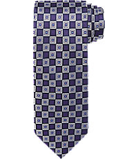 New 1940s Men's Ties, Neckties, Pocket Squares Executive Collection Textured Check Tie $49.50 AT vintagedancer.com