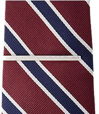 Jos.A.Bank Brushed Silvertone Tie Bar
