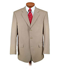Natural Stretch 3-Button Poplin Plain Front Suit