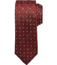 New 1940s Men's Ties, Neckties, Pocket Squares Reserve Collection Geometric Pattern Tie $79.50 AT vintagedancer.com