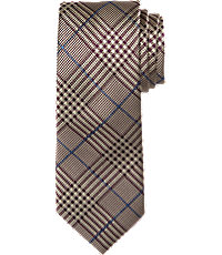 New 1940s Men's Ties, Neckties, Pocket Squares Reserve Collection Plaid Pattern Tie $79.50 AT vintagedancer.com