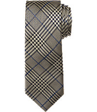 New 1930s Mens Fashion Ties Reserve Collection Plaid Pattern Tie $79.50 AT vintagedancer.com