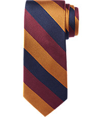 New 1940s Men's Ties, Neckties, Pocket Squares Traveler Collection Stripe Tie $64.50 AT vintagedancer.com