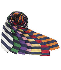 Regimental Guard Stripe Tie $49.50 AT vintagedancer.com