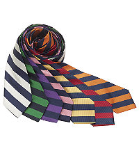 New 1940s Men's Ties, Neckties, Pocket Squares Regimental Guard Stripe 61 Long Tie $26.98 AT vintagedancer.com