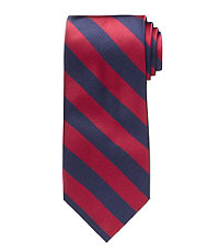 History of 1920s Mens Ties, Neckties, Bowties Executive Collection Regimental Guard Stripe Tie - Long $26.98 AT vintagedancer.com