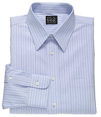 Traveler Tailored Fit Point Collar Pinpoint Stripe Dress Shirt
